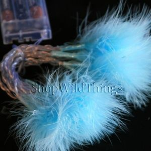 portofino Other - Blue LED faux Feather String lights 2 pack NWT